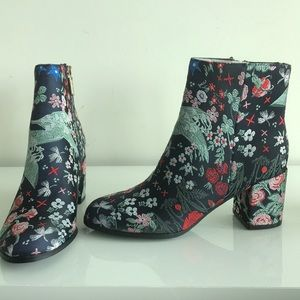 INDIGO RD. Floral ankle boots